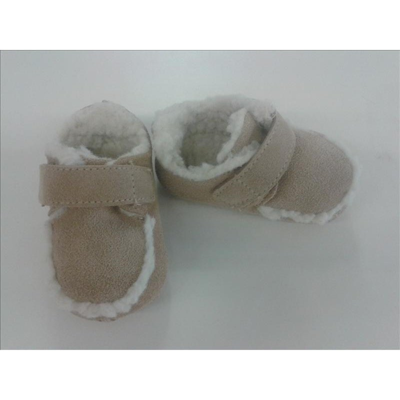 BABYSCHUHE ECHTLEDER Krabbelpuschen erster Babyschuh NEU OVP Gr. 17 mit Teddyfel