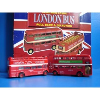 London Doppeldeckerbus Rueckz