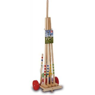 SMO Spielmaus Outdoor Krocketwag.Jun. Holz,4Sch