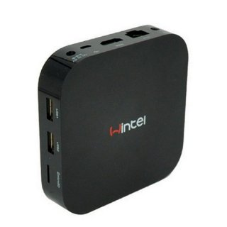 Wintel Mini PC Computer TV Box Dual Boot Windows 10 Android 4.4 32GB mit Intel Quad-Core Prozessor, HDMI, LAN, W-LAN Bluetooth