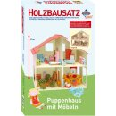 Holzb.Puppenhaus + Moebel 40x