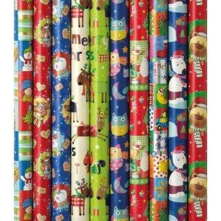 Geschenkröllchen Präs. Bambini Weihnacht,1 sortiert
