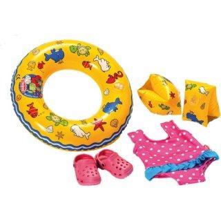 Puppen-Schwimmset m.Zubehör, Gr.35-45c