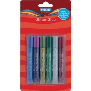 Glitter Glue, 6 Tuben à 10,5 ml