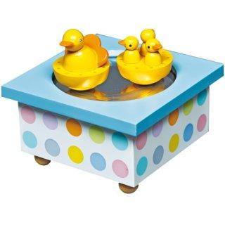 Holz Spieldose Tanzende Enten