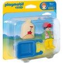 Playmobil 1.2.3 Bauarbeiter mit Schubkarre (6961)