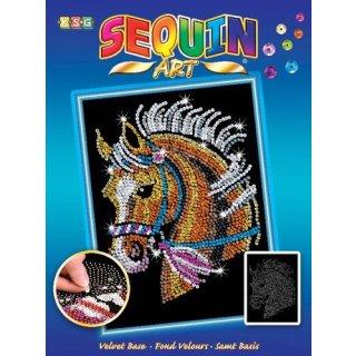 Sequin Art Pferd
