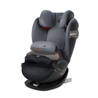 CYBEX Gold 2-in-1 Kinder-Autositz Pallas S-Fix, Für Autos mit und ohne ISOFIX, Gruppe 1/2/3 (9-36 kg), Ab ca. 9 Monate bis ca. 12 Jahre, Pepper Black