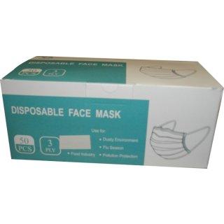 Einweg-Gesichtsmasken 50 Stück