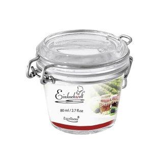 DOSEN-ZENTRALE Drahtbügelglas Einkochwelt Excellsens 80 ml
