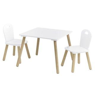 ZELLER PRESENT Kinder-Sitzgarnitur Scandi MDF/Kiefer weiß/natur 3tlg.