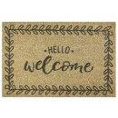 MD-ENTREE Kokosmatte Finesse Hello Welcome 40x60cm