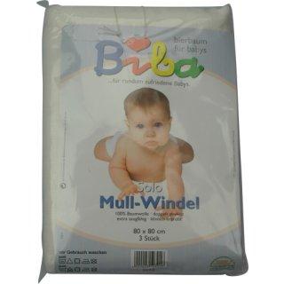Bierbaum Solo Mull-Windeln gebleicht 3erPac NEU
