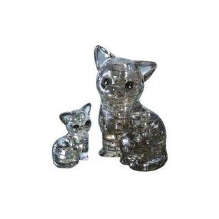 Pz. Puzzles 3D Crystal Katzenpaar 49T