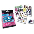 Monster High Sticker Booster, Sticker Glitzersticker 3 D