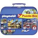 Pz. Puzzles PM Playmobil im Metallkoffer 2x60T,