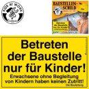 KIDS AT WORK Baustellenschild